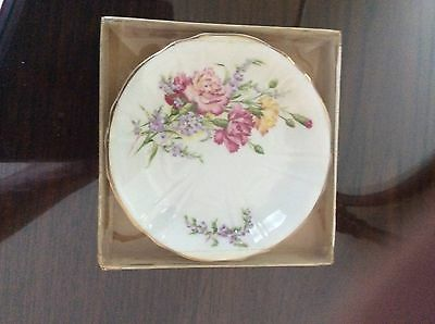 Small Vintage Royal Grafton Carnation Pin Dish - New In Box With Original Label