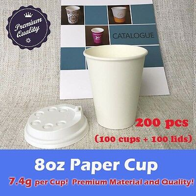 200pc/100set 8oz paper cup + lid *LOCAL PICKUP ONLY* Coffee Drink Takeaway