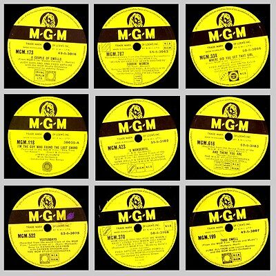 9x HOLLYWOOD ON 78' Filmmusik / Soundtrack  MGM   Schellackplatte  78rpm Set588