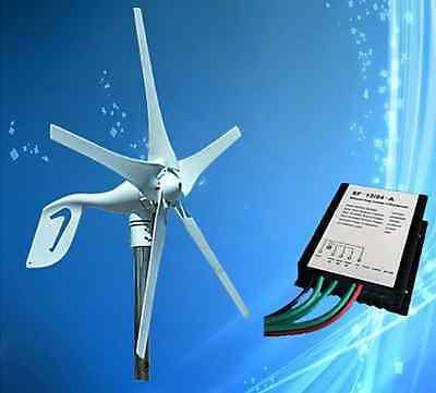 400W Wind Turbine Generator with 5PCS Blades + Max 600W 12V/24V Auto Distinguish