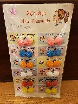 Vintage collectable old childrens hair bobbles 1960,s