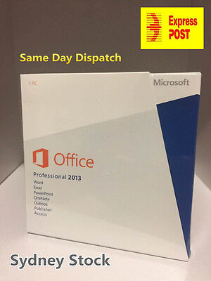 Microsoft Office 2013 Professional 32 & 64 bit F/Retail Version + Product Key