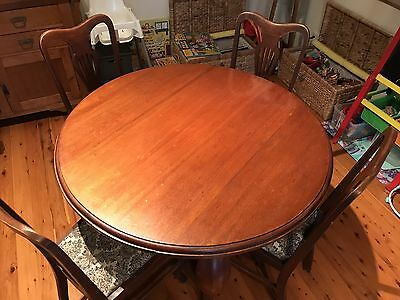 Antique Timber Round Dining Table