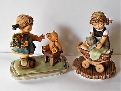 X 2 Goebel Hummel Figures With Love & Snuggle Up Bh 66 & Bh 67 1998