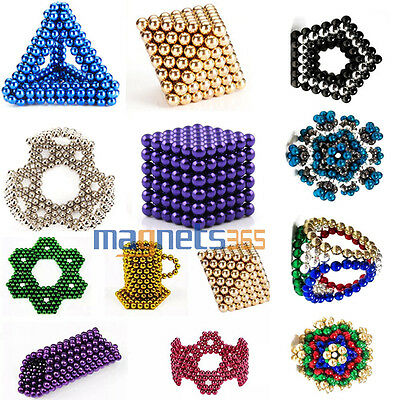 216Pcs DIY 5mm Magnetic Beads Balls Magic Cube 3D Puzzle Spheres Magnet Ball N42