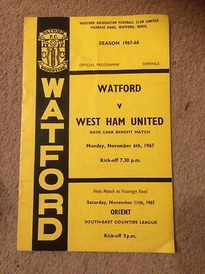 1967 Watford vs West Ham (Benefit Match)