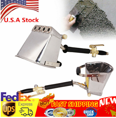 Cement Mortar Concrete Air Stucco Plastering Sprayer Hopper Paint Wall Tool US