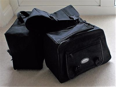 Triumph Motorcycle Black Panniers Saddle Bags Motorbike Bike Storage
