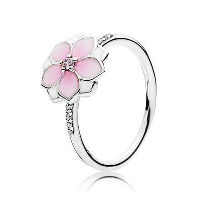 Genuine Pandora Magnolia Bloom Ring  S925 ALE In Pop Up Box 191026PCZ . Size 56