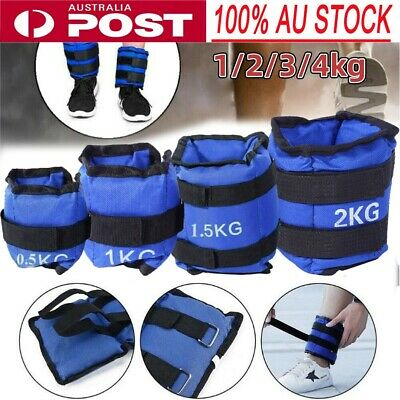 ADJUSTABLE ANKLE WEIGHTS EQUIPMENT WRIST FITNESS YOGA 1kg 2kg 3kg 4kg 5kg 6kg