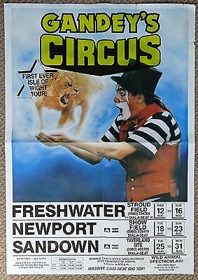 Gandey's Circus Poster