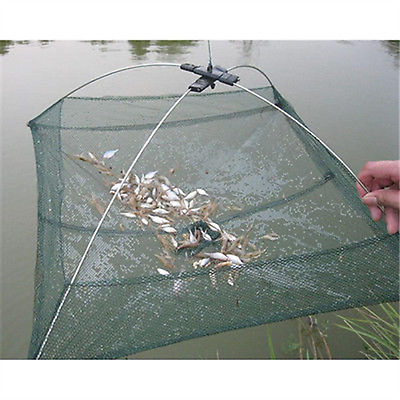 Fishing Net Cage Small Fish Shrimp Minnow Crab Baits Cast Mesh Trap Folded