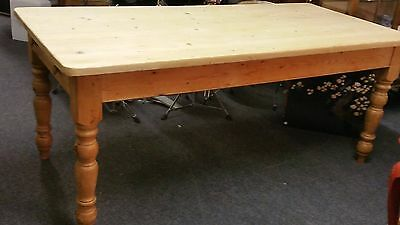SCRUB TOP COUNTRY  PINE KITCHEN TABLE DINING TABLE WITH DRAWER 6' x 3'