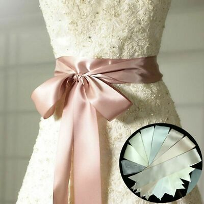120 inch Satin Ribbon Wedding Belt/Bridal Sash/Evening Dress Belt Double Faced