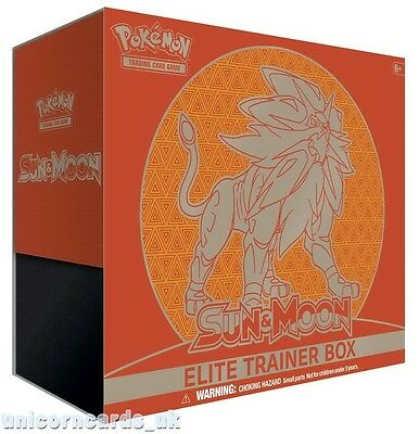 Pokemon TCG: Sun and Moon Elite Trainer Box - Solgaleo :: Brand New And Sealed B
