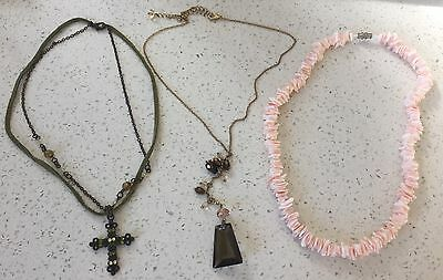 3 forever new necklaces costume jewellery