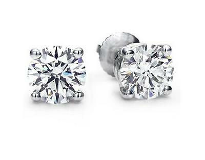 14ct. White Gold Diamond Stud Earrings 0.50ct .  £195.00 .