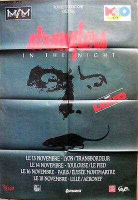 "STRANGLERS  Affiche Collector ""Stranglers in The Night"" 1992 Format 80 x 120 cm"