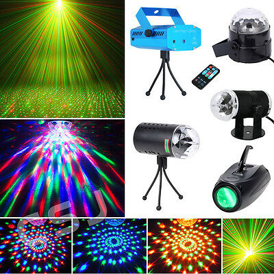 Projector RG DJ Disco Ball Light Stage Xmas Party Laser Lighting Effect + Remote