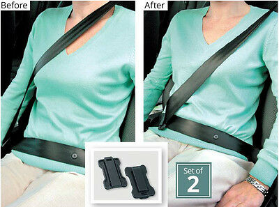 2 x Car Seat Belt Supports Confort Strap Adjusters Clips Safety Aid Comfort