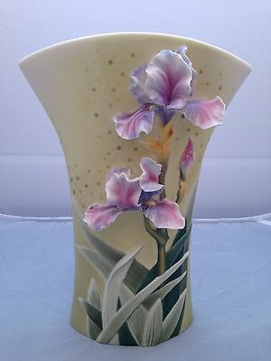 BNIB New FRANZ PORCELAIN VASE #FZ00714 IRIS GRACE Enesco Ltd