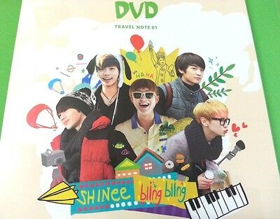 SHINee Surprise Vacation DVD Travel Note 01 : 6DVD+Pouch+Free Photo, New, Sealed
