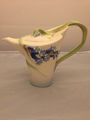 BNIB New FRANZ PORCELAIN TEAPOT #FZ00876 BLUEBELL Enesco Ltd