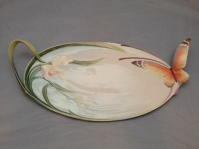 BNIB New FRANZ PORCELAIN TRAY XP1694 BUTTERFLY Enesco Ltd
