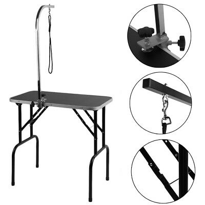 Lightweight Folding Stainless Steel Dog Pet Cat Grooming Table W/ Adjustable Arm