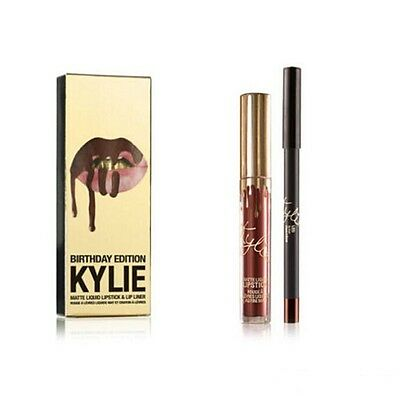 KYLIE cosmetics kit birthday edition  rouge a lévres mat et crayon a lévres neuf