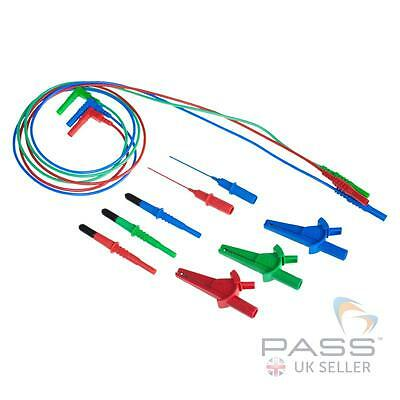 NEW Silvertronic 3 Wire Silicone Test Lead Set (Suitable for MFT's) UK Seller