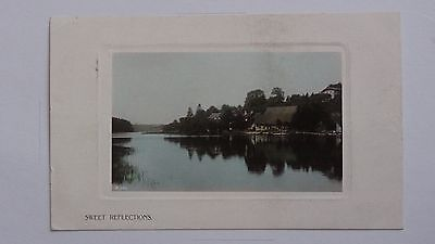 "Old postcard entitled ""Sweet Reflections"""
