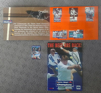 1997 Champions Of Tennis Tournament Phone Cards and Event Program.