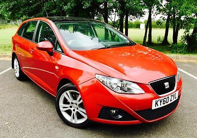 2010/60 Seat Ibiza 1.6TDI CR ECOMOTIVE SE TDI Estate In Red