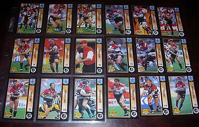 NORTH SYDNEY BEARS Full set of 18 Cards ~ 1994 Series 1 & 2~ Rugby League