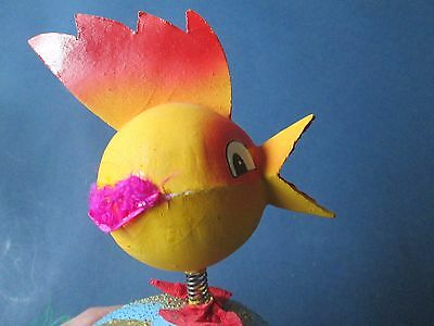 OLD Vintage Easter Duck from cardboard/ with Bobble head or Nodder