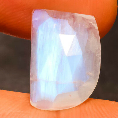 Faceted White Rainbow Natural Gemstone Fancy 8 Carats