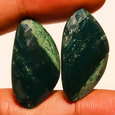 Faceted Moss Agate Natural Gemstone Fancy 30 Carats