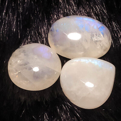 White Rainbow 3 Pieces Natural Gemstone Fancy 36 Carats