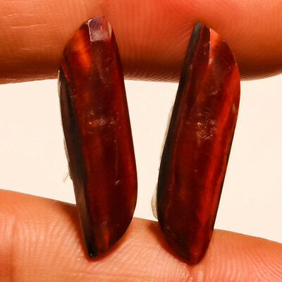 Faceted Red Tiger Eye Natural Gemstone Fancy 20 Carats