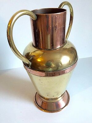 Beautiful Decorative Vintage Copper And Brass Vase