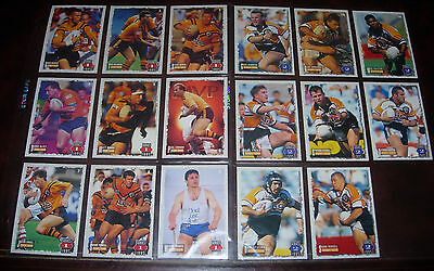 BALMAIN TIGERS 17 PLAYER CARDS~1995 Series 1 & 2 Rugby League Cards