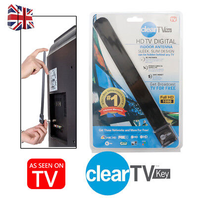 one Clear TV Key HDTV FREE TV Digital Indoor Antenna Ditch Cable  UK