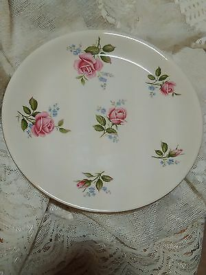 Vintage  Alfred Meakin Plate Roses SHABBY