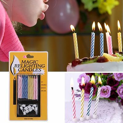 10pcs High Quality Magic Trick Relighting Candle Birthday Cake Mate Party