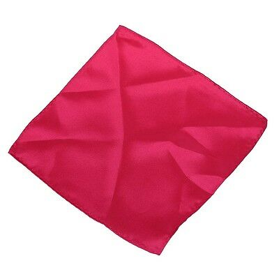 Hot Pink 8.5 Inch Square Satin Hanky Handkerchief for Men A4V7 W0T8