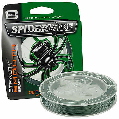Spiderwire Stealth Smooth 8 Braided Line Moss Green All SizesCarp Pike Fishing