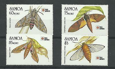 SAMOA 1991  Moths - Phila Nippon 91 Stamp Exhibition    unmounted mint / mnh set