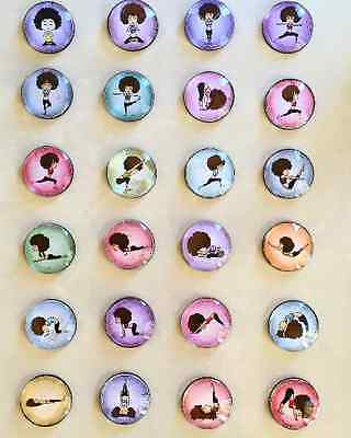 Yoga Glass Cabochon Fridge Magnets - Party Bag Fillers - Gift for Yogis