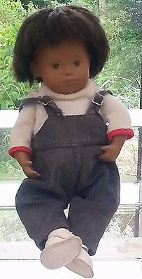 Vintage Sasha Toddler Doll in Blue play-suit with white Shoes